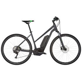 Cube Cross Hybrid Pro 400 Elcykel Hybrid Trapez grå